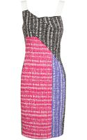 Roland Mouret Willow Contrasting Printed Dress - Lyst