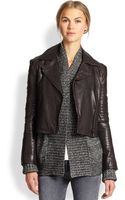 J Brand Aiah Leather Moto Jacket - Lyst