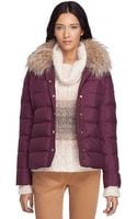 Brooks Brothers Short Puffer Jacket - Lyst