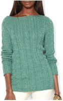Ralph Lauren Lauren Cable Knit Cotton Sweater - Lyst