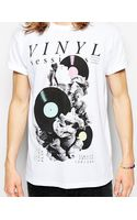 Asos Tshirt with Vinyl Print and Rolled Sleeve Skater Fit - Lyst