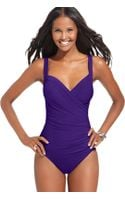 Miraclesuit Sanibel Tummy Control One Piece Swimsuit - Lyst