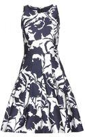 Oscar de la Renta Cotton and Silk Dress - Lyst
