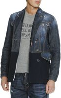 DSquared2 Mix-media Double-breasted Jacket - Lyst