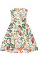 Matthew Williamson Printed Cotton Blend Mini Dress - Lyst