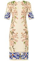 Dolce & Gabbana Almond Blossomprint Tweed Dress - Lyst
