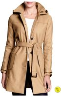 Banana Republic Factory Wool Blend Coat - Lyst