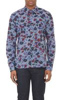 Agnes B. Abstract Floral Dress Shirt - Lyst