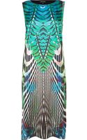 River Island Green Abstract Print Sleeveless Shift Dress - Lyst