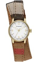 Burberry Ladies Utilitarian Gold-tone  Double Wrap Strap Watch - Lyst