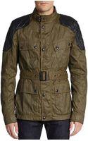 Belstaff Darlington Leather-paneled Nylon Field Jacket - Lyst