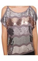 Forever 21 Sequin Waves Top - Lyst