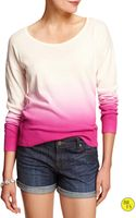 Banana Republic Factory Dip Dye Scoop Neck Sweater Pink Combo - Lyst