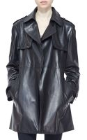 Burberry London Leather Wrap Trench Coat - Lyst