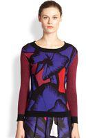 Diane von Furstenberg April Jacquard Wool Sweater - Lyst