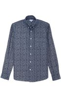 Steven Alan Floral Classic Collegiate Shirt - Lyst