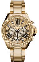 Michael Kors Womens Chronograph Wren Rose Gold-tone Stainless Steel Bracelet Watch 42mm - Lyst