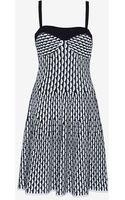 M Missoni Honeycomb Flare Knit Dress - Lyst