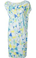 Emilio Pucci Cap Sleeve Dress - Lyst