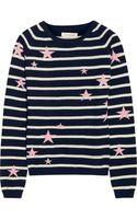 Chinti & Parker Starintarsia Striped Cashmere Sweater - Lyst