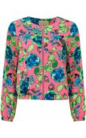 Atterley Road Digital Flower Print Bomber - Lyst