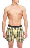 Hugo Boss Catshark  Plaid Swim Trunks - Lyst