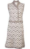 Lanvin Vintage Early Belted Dress - Lyst