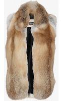 Yves Salomon Red Fox Fur Vest - Lyst