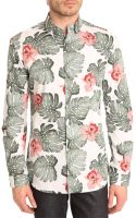 Selected Hawaiian Print Shirt - Lyst