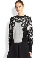 Roberto Cavalli Combo Snake Sweater - Lyst