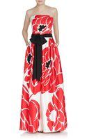 Escada Lotus-print Gown - Lyst
