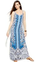 Inc International Concepts Spaghettistrap Printed Maxi Dress - Lyst