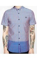 Fred Perry Shirt in Gingham Mix Short Sleeve - Lyst