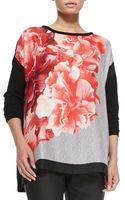 Marina Rinaldi Graphic Print Long-sleeve Sweater - Lyst