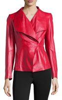 Lafayette 148 New York Leather Shawl-collar Jacket - Lyst