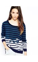 Shae Jumper in Dip Dye Stripe - Lyst