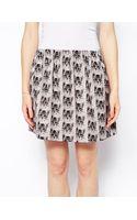 Paul & Joe Sister Skater Skirt in Cat Print - Lyst