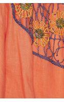 Emamó Embellished Crochettrimmed Linen Kaftan - Lyst
