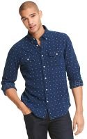 Tommy Hilfiger Custom Fit Indigo Print Shirt - Lyst