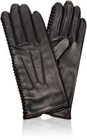 Nina Ricci Laceddetail Leather Gloves - Lyst