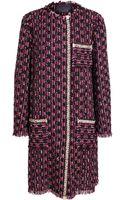 Lanvin Boucle Tweed Coat - Lyst