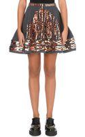 Kenzo Metallic-embellished Wool Skirt - Lyst