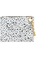 Lulu Guinness Cut Out Spot Grainy Leather Hug and Hold Clutch - Lyst