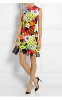 Christopher Kane Neon Guipure Lace and Tulle Mini Dress - Lyst