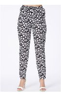Missguided Ryleigh Abstract Animal Print Trousers - Lyst