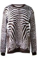 Balmain Zebra Print Sweater - Lyst