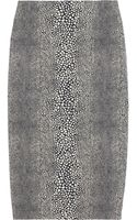 Preen By Thorton Bregazzi Magda Patterned Cottonblend Pencil Skirt - Lyst