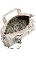 Rebecca Minkoff Ascher Snakeembossed Leather Duffel Bag - Lyst