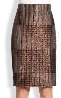 Marc Jacobs Sequined Houndstooth Pencil Skirt - Lyst