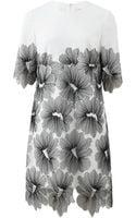 Lela Rose Floral Lace Tunic Dress - Lyst